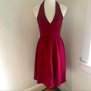 JCrew Red Halter Dress, Sz 4